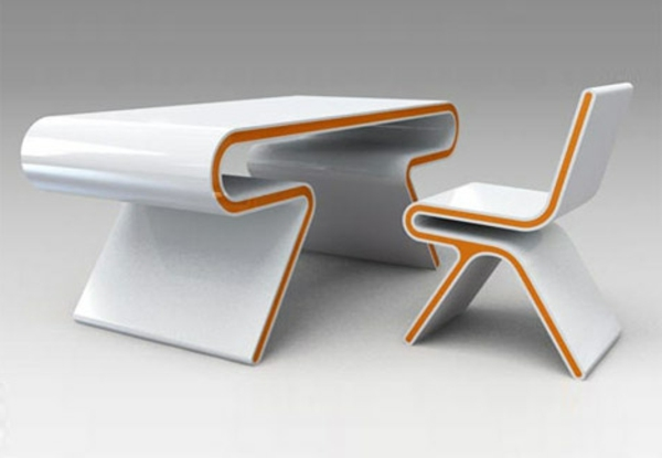 chaise-et-bureau-futuriste